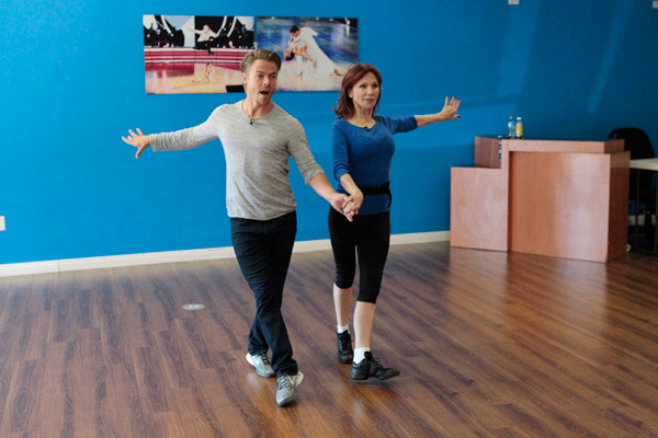 `Dancing with the Star`: Derek Hough rehearses with Marilu Henner. (ABC photo)