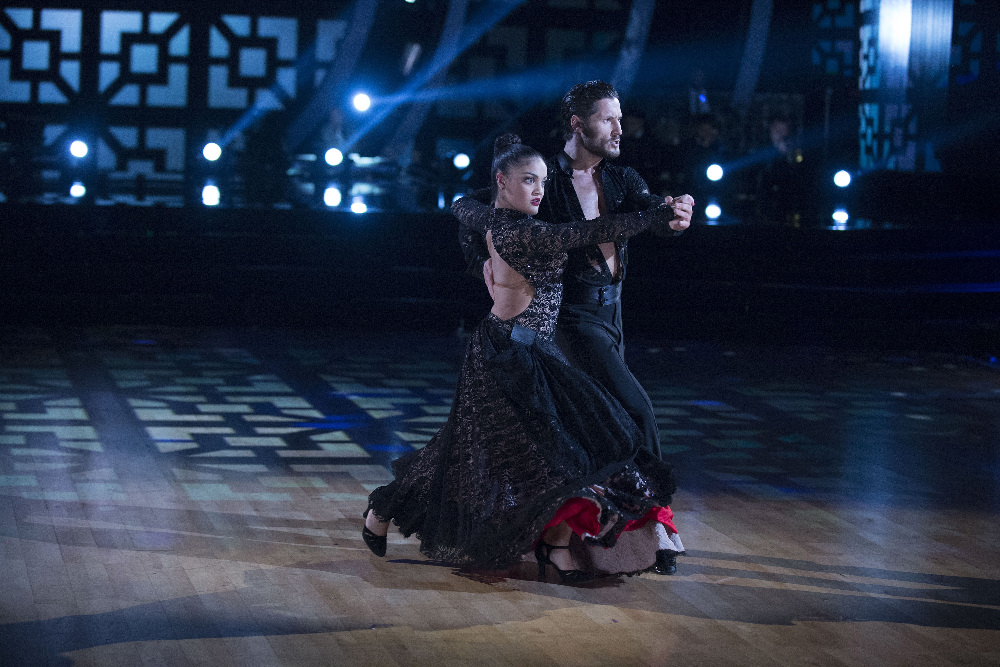 `Dancing with the Stars`: Laurie Hernandez and Valentin Chmerkovskiy compete. (ABC photo by Eric McCandless)