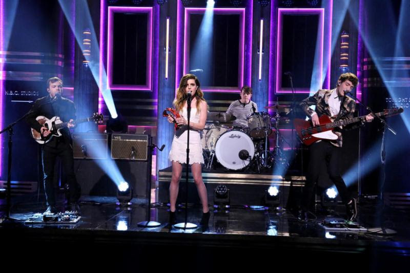 Echosmith on `The Tonight Show with Jimmy Fallon.` (NBC photo)
