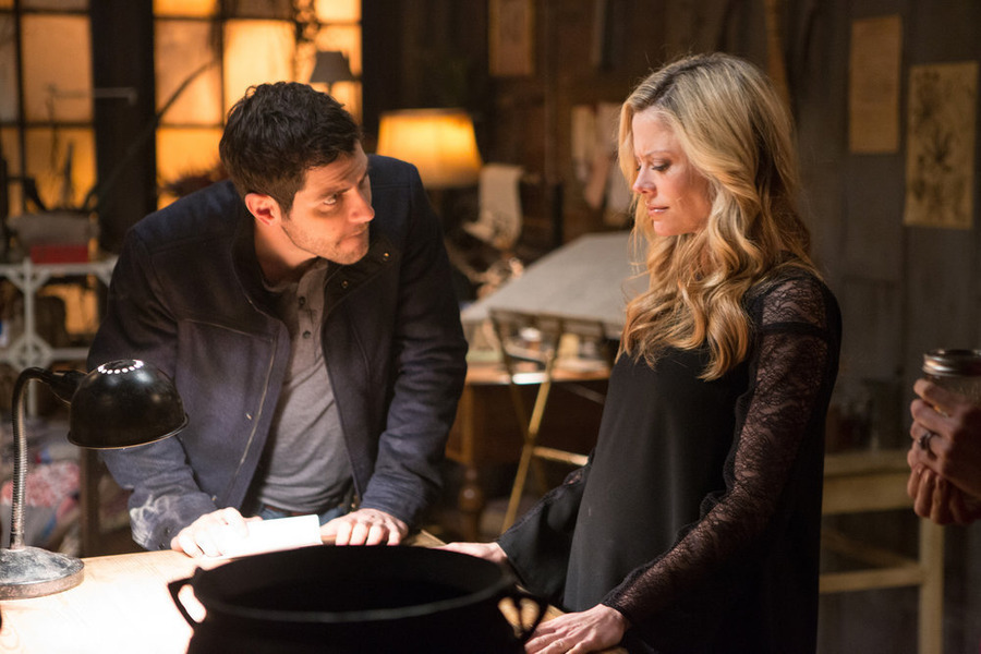 `Grimm`: David Giuntoli as Nick Burkhardt and Claire Coffee as Adalind Schade. (NBC photos by Scott Green/NBC)