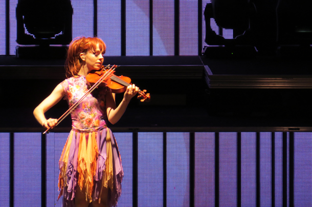 Musician and costume aficionado Lindsey Stirling is `The Only Pirate at the Party.` She is pictured performing at Artpark in 2015.