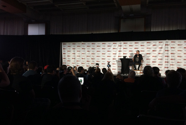 Mark Hamill on stage at Fan Expo Canada.