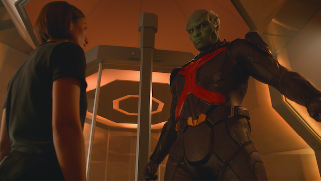 He is J'onn J'onzz, the Martian Manhunter. (CBS photo)