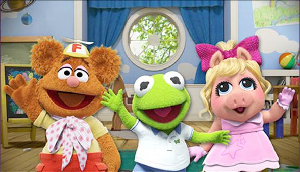 `Muppet Babies` Fozzie Bear, Kermit the Frog and Piggy. (Disney photo)