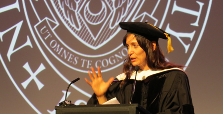 Chantal Kreviazuk provides the commencement address.