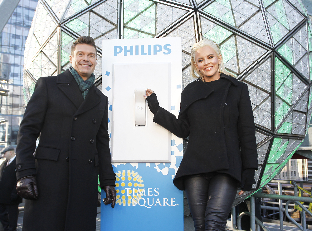 Ryan Seacrest and Jenny McCarthy previewed `Dick Clark's New Year's Rockin' Eve with Ryan Seacrest` Friday on `Good Morning America.` Both `GMA` and the special air on the ABC Television Network. (ABC photo by Lou Rocco)