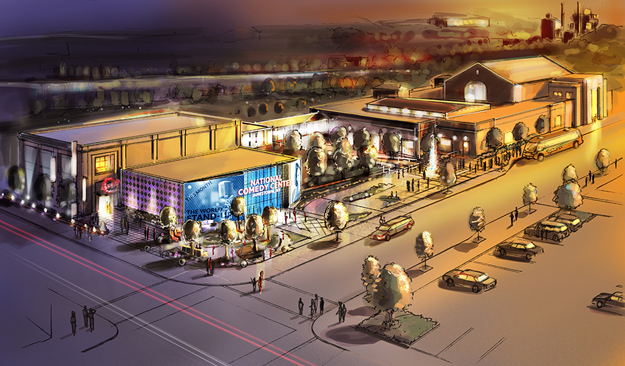 An artist's rendering of the National Comedy Center. (Contributed image)