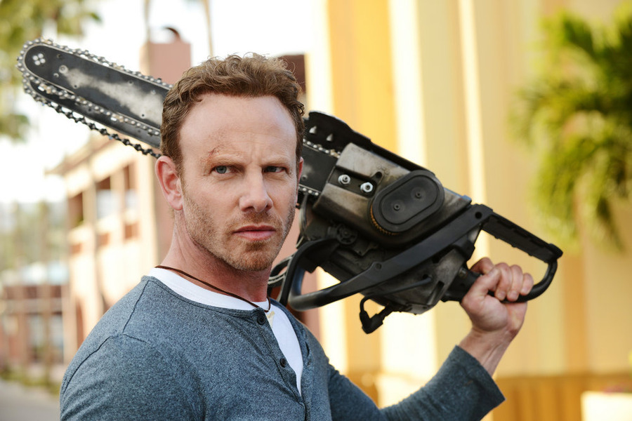 `Sharknado 3: Oh Hell No!`: Ian Ziering as Fin Shepard. (Syfy photo by Gene Page) The film debuts Wednesday, July 22 (9-11 p.m. ET).