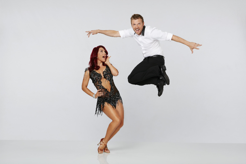 `Dancing with the Stars` - Nick Carter & Sharna Burgess - The celebrity cast of `Dancing with the Stars` is lacing up their ballroom shoes and getting ready for their first dance on Monday, Sept. 14 (8-10:01 p.m. ET) on the ABC Television Network. (ABC photo by Craig Sjodin)