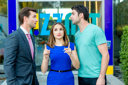 """Summer Love"": Lucas Bryant, Rachael Leigh Cook and Travis Milne. (Hallmark Channel photo)"