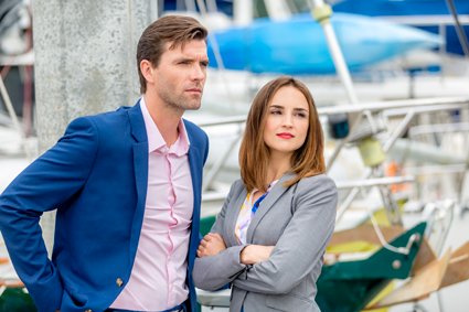 """Summer Love"": Lucas Bryant and Rachael Leigh Cook. (Hallmark Channel photo)"