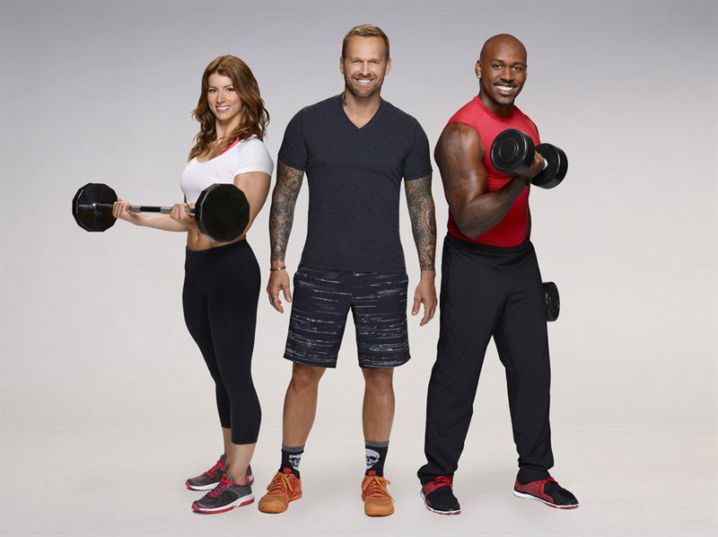 Bob Harper, center, joins trainers Jennifer Widerstrom and Dolvett Quince for season 17 of `The Biggest Loser.` (NBC photo)