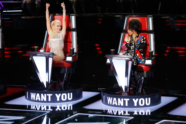 `The Voice` coaches Gwen Stefani and Alicia Keys. (NBC photo by Trae Patton)