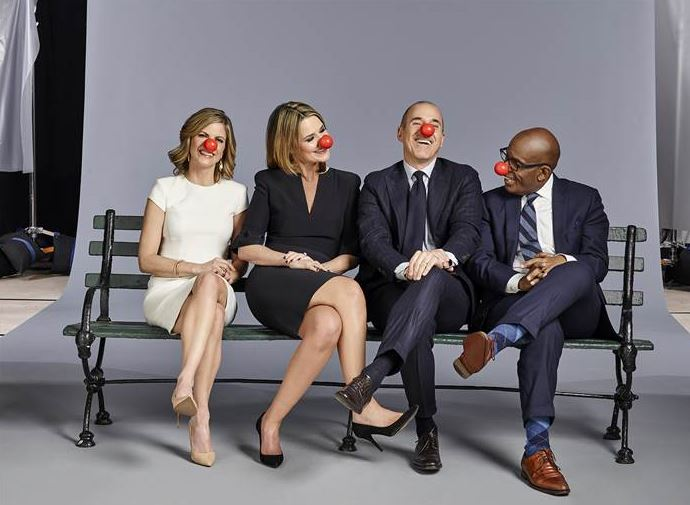 The stars of `Today` don red noses.