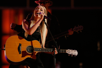 """The Voice"": Emily Ann Roberts on stage"