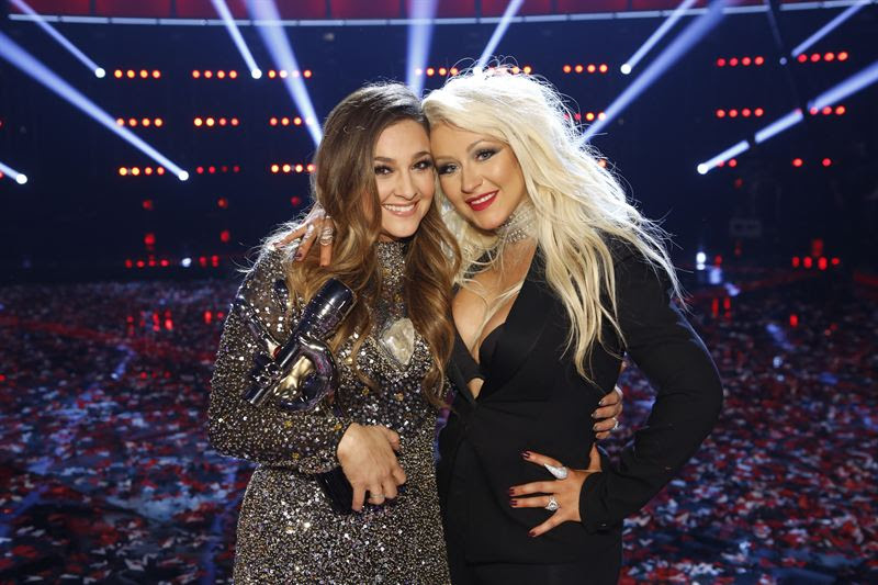 Alisan Porter and Christina Aguilera on `The Voice.` (NBC photo by Trae Patton)