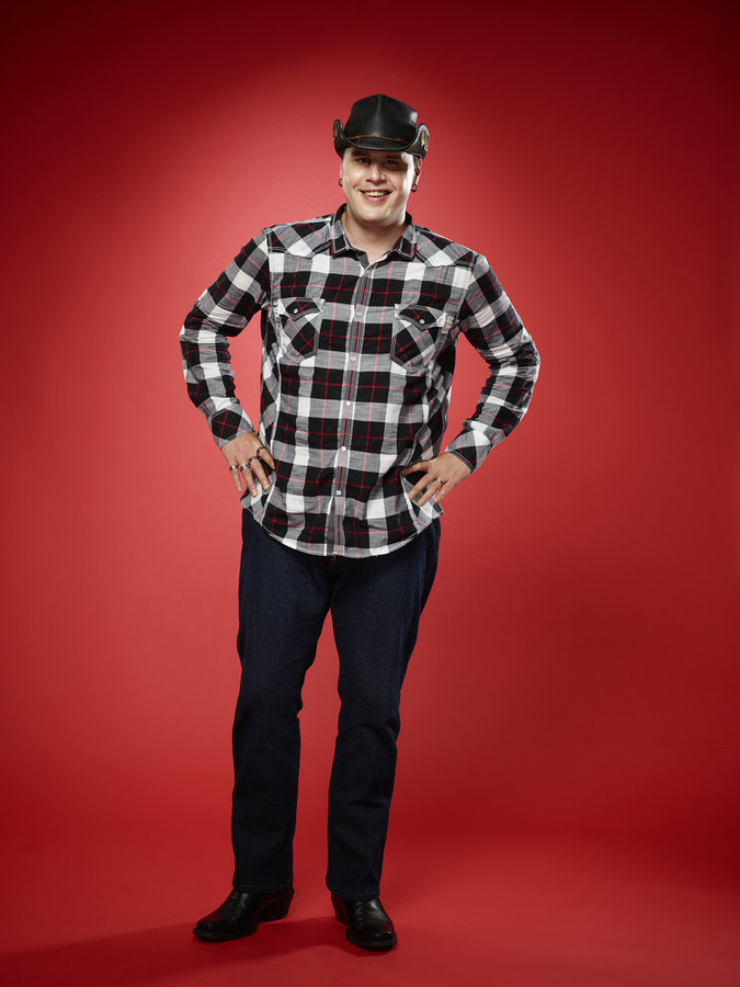 """The Voice"": Blind Joe Bommersbach (NBC photo by Trae Patton)"