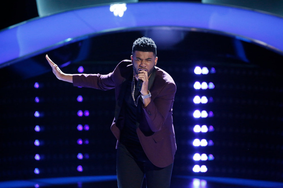 `The Voice` `Blind Auditions`: Mark Hood performs. (NBC photo by Tyler Golden)