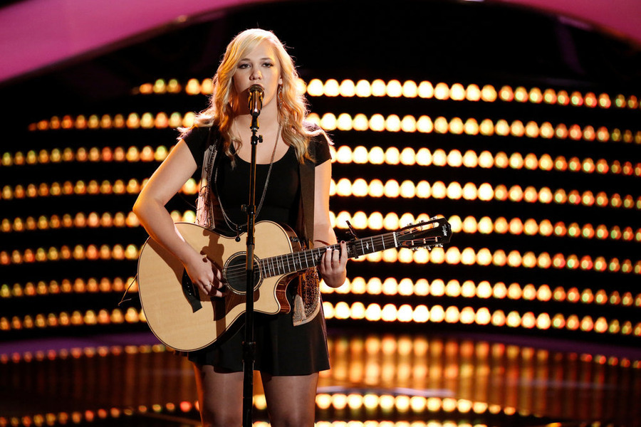 `The Voice`: Morgan Frazier performs. (NBC photo by Tyler Golden)