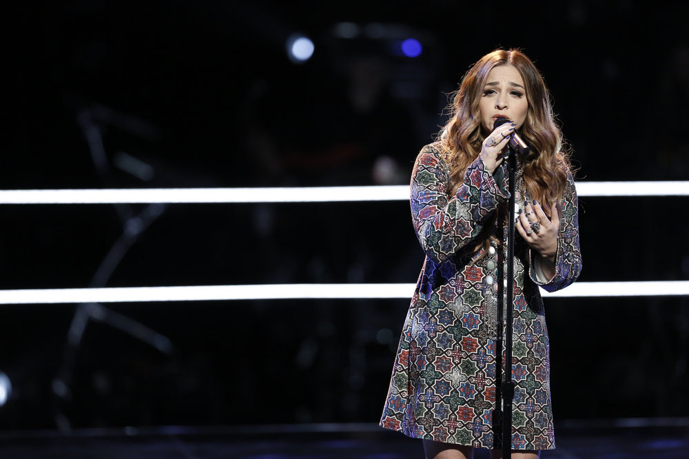 `The Voice`: Singer Alisan Porter performs in the `Knockout Rounds.` (NBC photo by Tyler Golden)