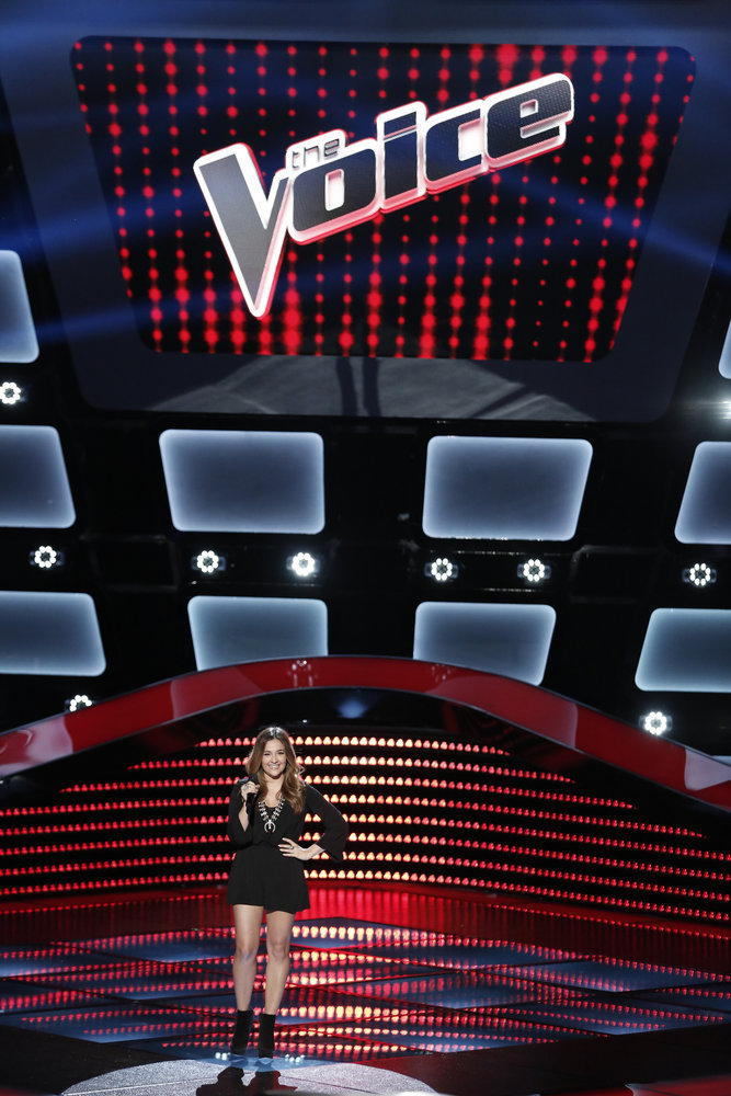 Alisan Porter in her blind audition (NBC photo by Tyler Golden)