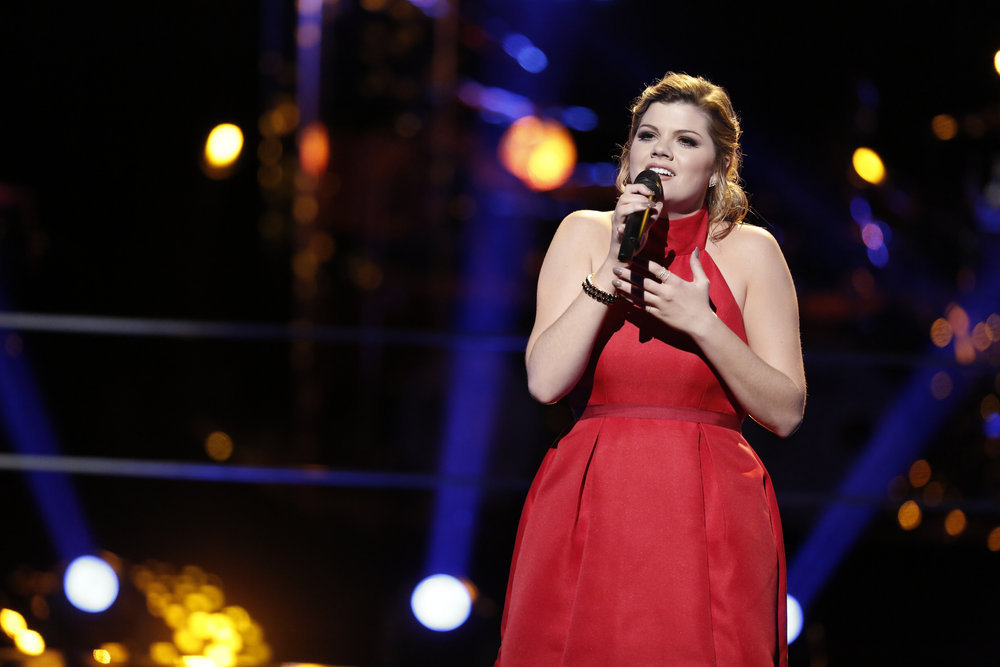 `The Voice`: Caity Peters performs in the `Knockout Rounds.` (NBC photo by Tyler Golden)