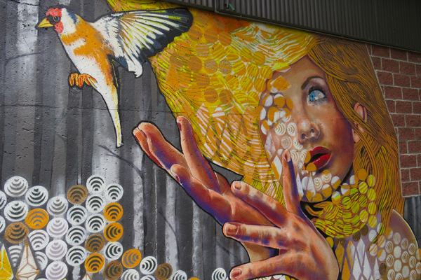 Artist of the Year nominee Chuck Tingley created a mural inside Artpark last summer.