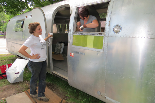 Woodstock's Becky Sellinger oversees modifications to her 1968 Airstream.