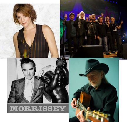 Performers at Artpark this summer include, clockwise from left, Sarah McLachlan, Ringo Starr & His All Star Band, Willie Nelson and Morrissey.
