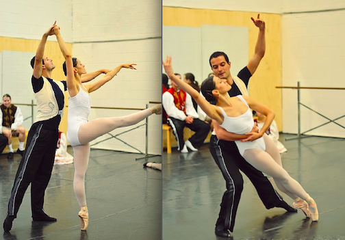 Pictured, Georgi Rusafov practices with Natalia Velarde.