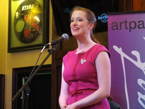 Emilie Renier performed at Artpark's summer season announcement press conference. (photo by Joshua Maloni)