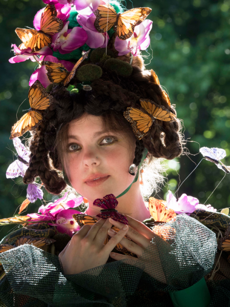 Emilie Sullivan, a Pittsburgh University theater student, embraces her inner fairy. (Photo by Pavel Antonov)