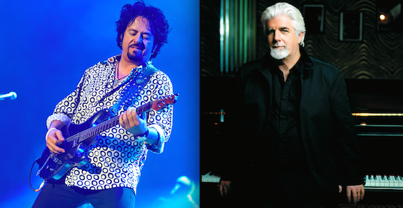 Toto's Steve Lukather, left, and Michael McDonald.