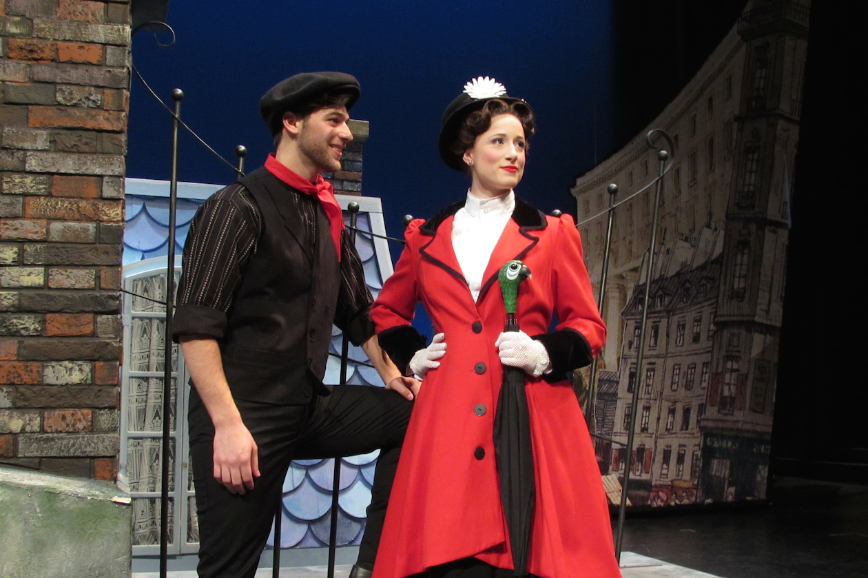 Pictured are John Barsoian as Bert and Emilie Renier as Mary Poppins.