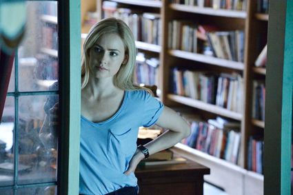 """12 Monkeys"": Amanda Schull as Cassie. (Syfy photo by Ben Mark Holzberg)"