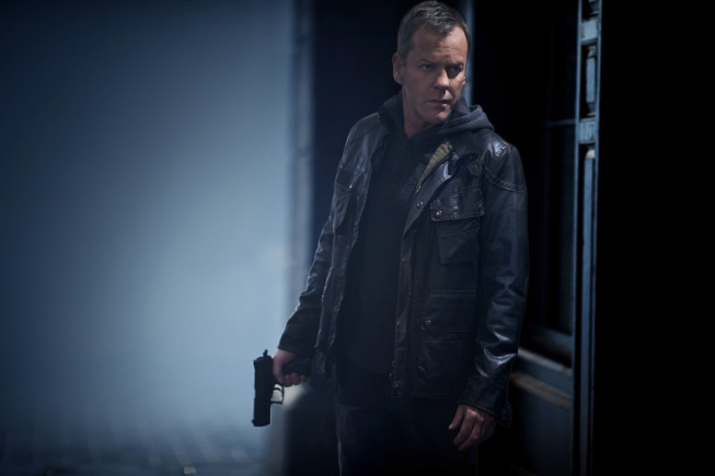 `24: Live Another Day`: Kiefer Sutherland stars as Jack Bauer. `24: Live Another Day` is set to premiere Monday, May 5, with a special season premiere, two-hour episode (8 p.m.) on FOX. (©2014 Fox Broadcasting Co./credit: Greg Williams/FOX)