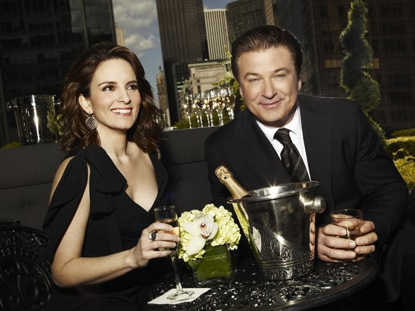 `30 Rock`: Pictured are Tina Fey as Liz Lemon, and Alec Baldwin as Jack Donaghy. (NBC photo by Art Streiber)