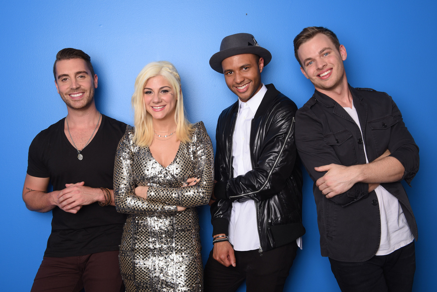 `American Idol XIV`: The top four, from left: Nick Fradiani, Jax, Rayvon Owen and Clark Beckham (FOX photo by Michael Becker).