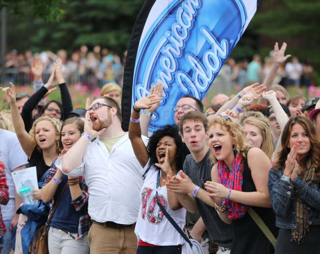 `American Idol XIV`: Minneapolis auditions: Thousands line up for a chance to become the next `American Idol` on Wednesday, June 18, at Mariucci Arena in Minneapolis. (FOX photo by Adam Bettcher)