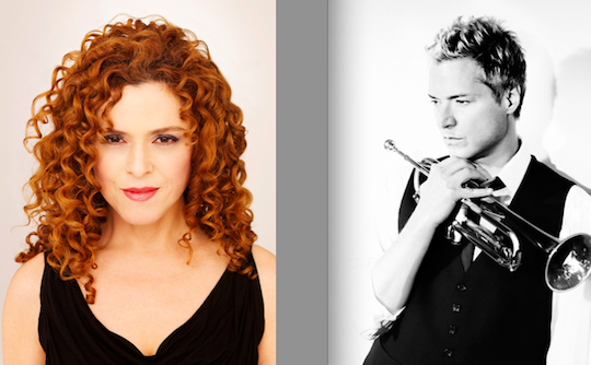 Bernadette Peters and Chris Botti.