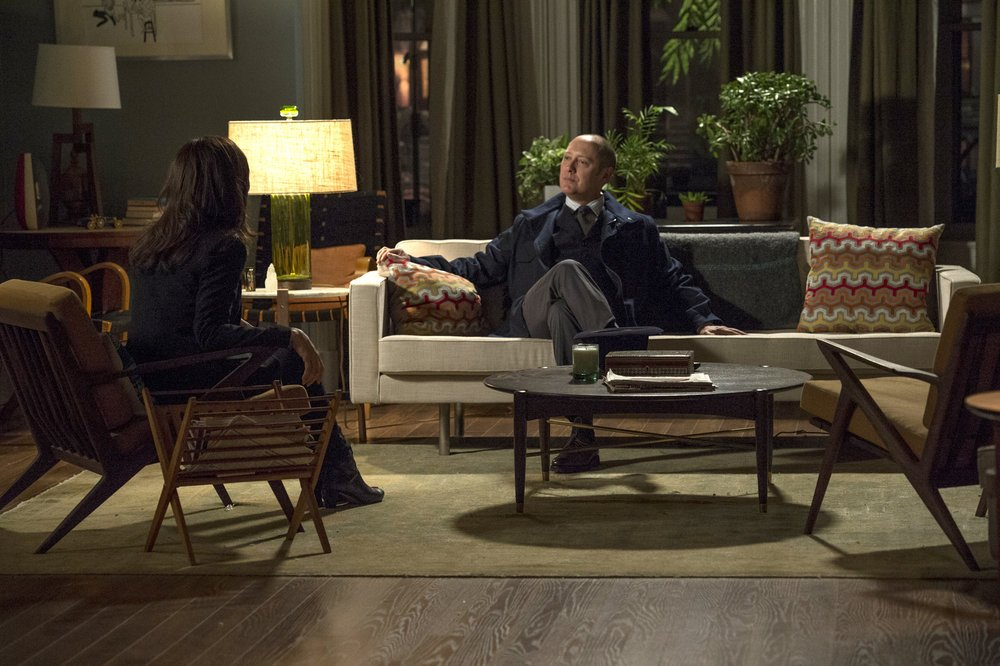 `The Blacklist`: Pictured, from left, are Megan Boone as Elizabeth Keen, and James Spader as Raymond `Red` Reddington. (NBC photo by David Giesbrecht)