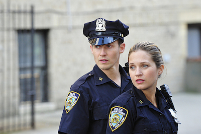 `Blue Bloods`: Will Estes stars as Jamie Reagan, and Vanessa Ray as Edit `Eddie` Jenko. (CBS Television Network photo by John P. Filo)