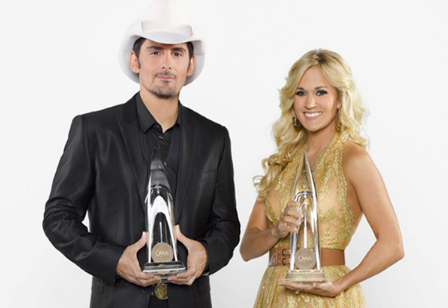 Brad Paisley and Carrie Underwood (ABC photo by Bob D'Amico)