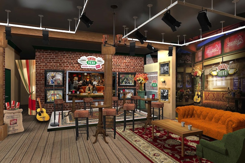 A pop-up replica of Central Perk, the neighborhood coffee shop frequented by the characters on `Friends,` will be serving free cups of Eight O'Clock Coffee to fans in New York City from Sept. 17 to Oct. 18 to celebrate the 20th anniversary of the debut of the Emmy-winning Warner Bros. Television comedy. (Photo ©2014 Warner Bros. Entertainment Inc. All rights reserved.)