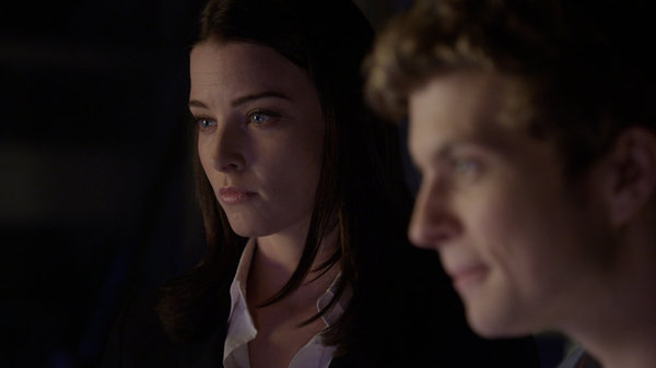 `Continuum`: Pictured are Rachel Nichols as Kiera Cameron and Erik Knudsen as Alec Sadler. (Syfy photo)