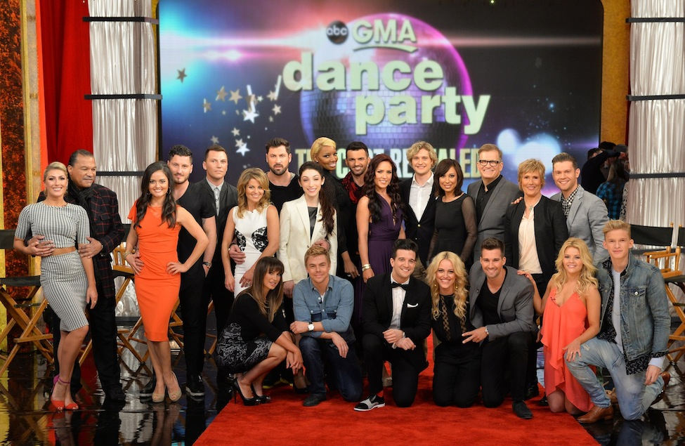 `Dancing with the Stars` on `Good Morning America`: This season's lineup of stars was introduced Tuesday morning. It includes: standing: Emma Slater, Billy Dee Williams, Danica McKellar, Valentin Chmerkovskiy, Sean Avery, Candace Cameron Bure, Maksim Chmerkovskiy, Meryl Davis, NeNe Leakes, Tony Dovolani, Sharna Burgess, Charlie White, Cheryl Burke, Drew Carey, Diana Nyad, Henry Byalikov; sitting: Karina Smirnoff, Derek Hough, Mark Ballas, Peta Murgatroyd, James Maslow, Witney Carson and Cody Simpson. (ABC photo by Todd Wawrychuk)