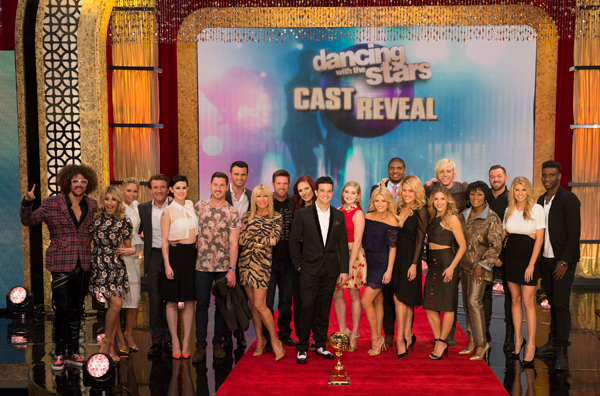The `Dancing with the Stars` cast. The series returns Monday, March 16, on WKBW. Click for a larger image. (ABC photo by Todd Wawrychuk)