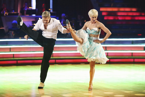 `Dancing with the Stars: The Results Show`: In a final element of the competition, the three remaining couples performed a new routine in an `Instant Dance,` where they tackled a style they knew, but to music given to them for the first time live on television. Champions Kellie Pickler and Derek Hough are pictured. (ABC photo by Adam Taylor)