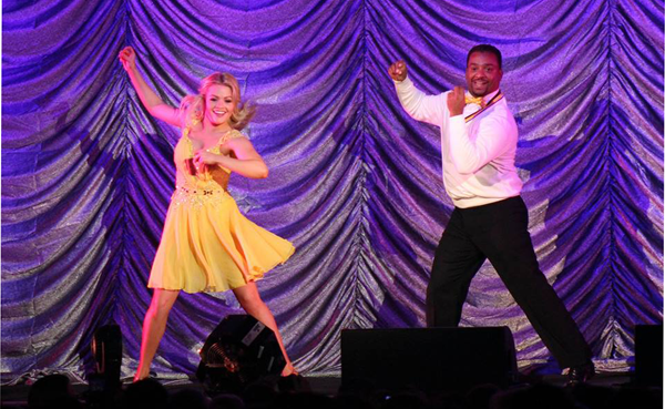 'Dancing with the Stars: Live!' tour participants Alfonso Ribeiro and Witney Carson perform to a sold-out room inside Seneca Niagara Events Center.