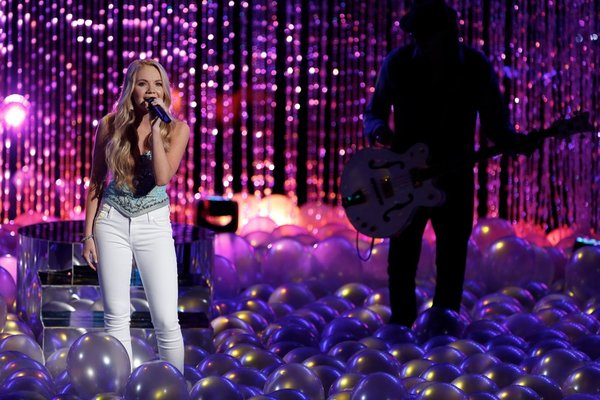 `The Voice`: Danielle Bradbery performs as part of the blind auditions. (NBC photo by Tyler Golden)